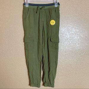 Cat & Jack girls green jogger pants
